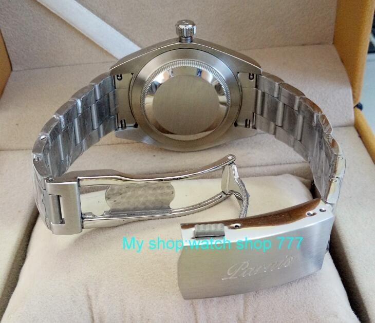 2017 new fashion 40mm parnis Sapphire Crystal 21 jewels Automatic Self-Wind Mechanical movement Men Watch Luxury watch 310