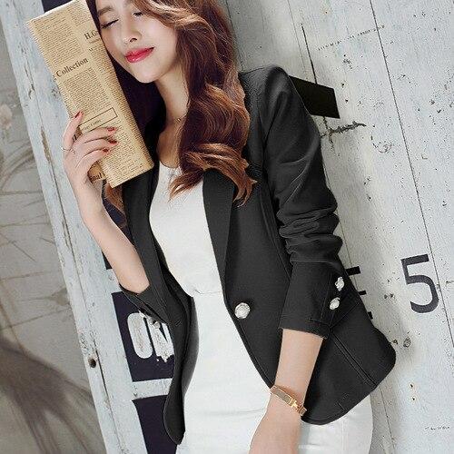 On Sale J42251 Bury New Fashion Single Button Ladies Blazers Women 2018 Spring Autumn Women Suit Jacket Blazer