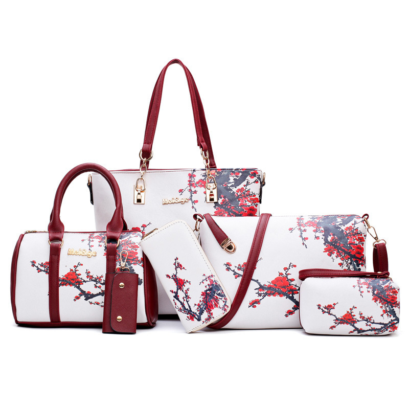 New Vintage Decorative Patchwork Large Soft Leather Portable Top Handle Hand Totes Bags Causal Handbags With Zipper Shoulder Shopping Purse Luggage Organizer For Lady Girls Womens Work