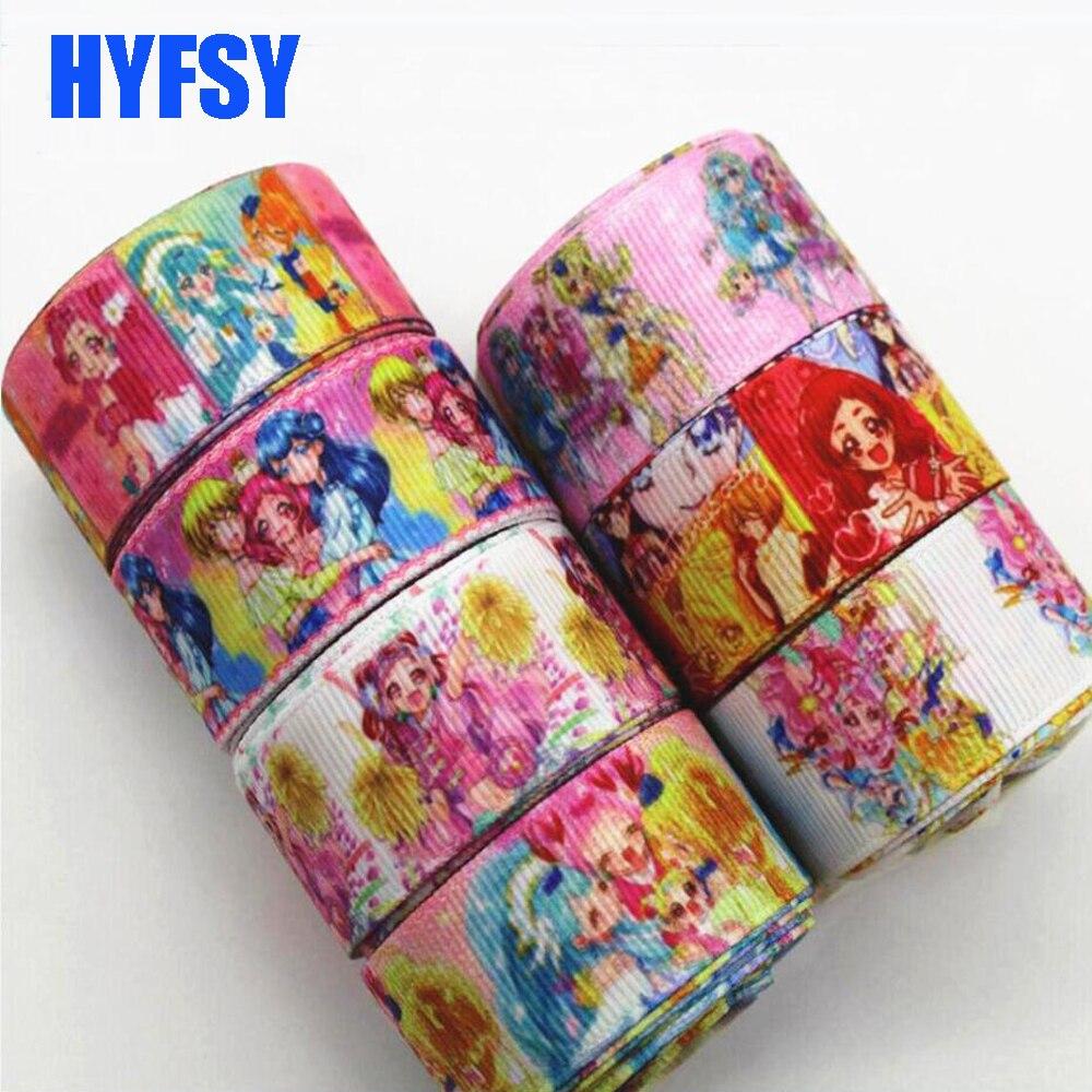 Hyfsy 10020 22 мм мультфильм лента 10 ярдов Сделай Сам волос ручной работы Материал Подарочная упаковка японской анимации Grosgrain ленты