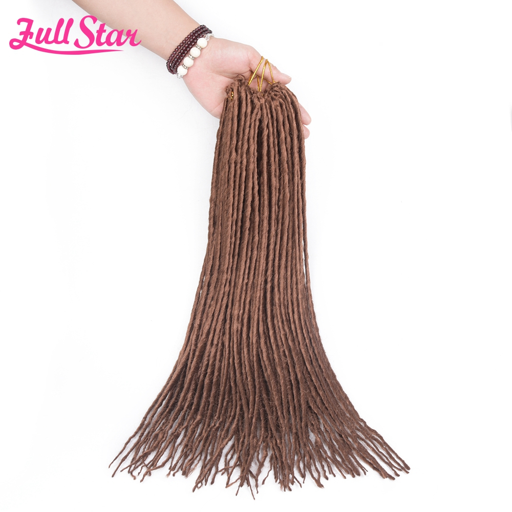 Full Star 22(56cm) Dreadlocks Hair Extensions Synthetic Crochet Braids Single Ends Dread ...