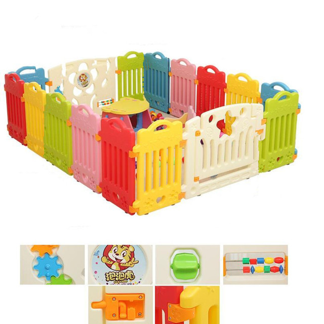 Vallas Juego Valla de Seguridad para niños Bebé Infantil Ecológico PVC Corralito Bebé Niño Gateando Valla de Seguridad Insípido Plástico