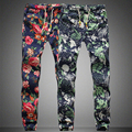 XX13 New design 2016 Fashion Drawstring Men Pants High quality Cotton 5printing pattern Men jogger pants Leisure Pants Men M-5XL