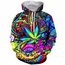 Sudaderas con capucha mujer hombres 3d impreso colorido Trippy otoño top  ropa de moda hip hop d853da14906