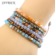 Popular Women Simple Bracelet Ethnic Style Hand-Woven Crystal Bracelets Jewelry Holiday Gifts