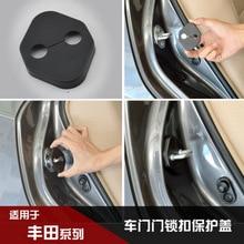 4PCS/ Lot Car Door Lock Decoration Protective Cover Fit for Toyota PRADO YARiS L CROWN Prius LAND CRUISER