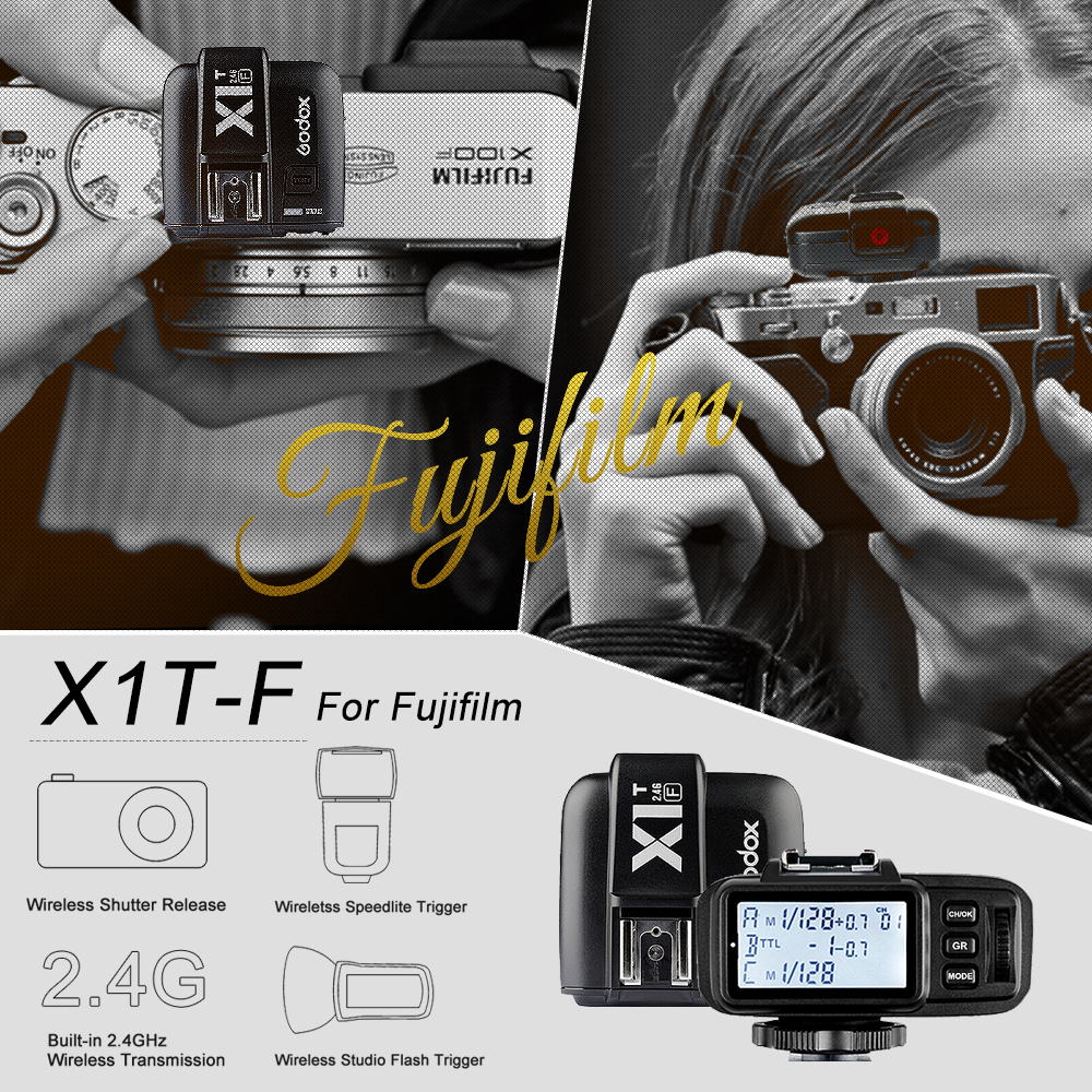 In the Stock Godox X1T F TTL HSS 1 8000s 2 4G Wireless X System Power