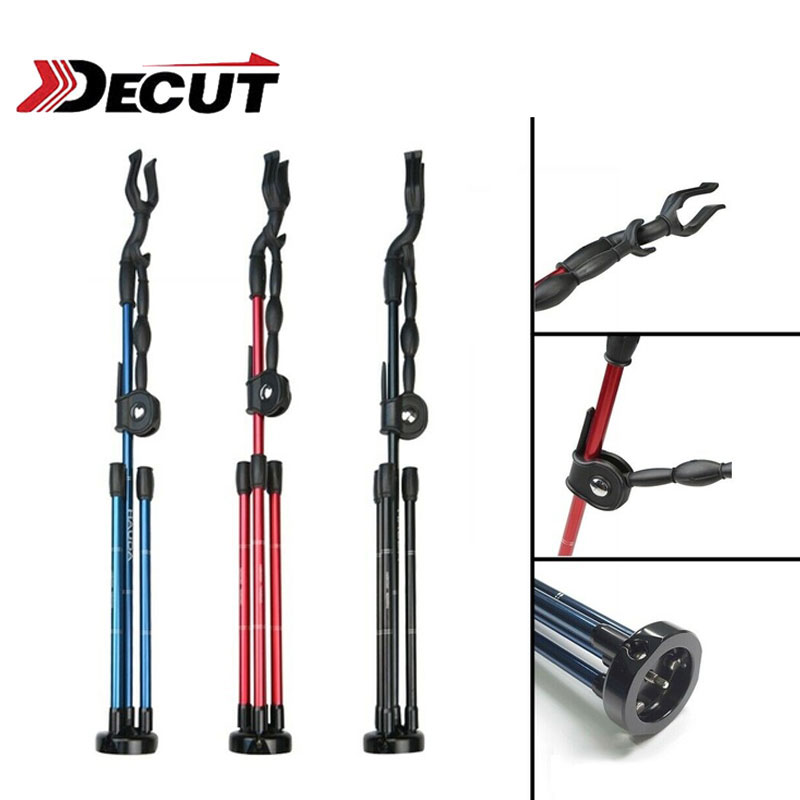 1pc Archery Bow Stand Aluminum Alloy Tripod Foldable Bow Stand Recurve Bow Longbow Bracket Rack Hunting Shooting Bow Accessories-in Bow & Arrow from Sports & Entertainment