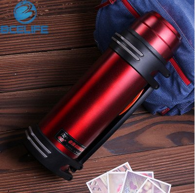 BCELIFE 2500ML Outdoor Sport Camping 5 Color Large Insulated Kettle Wate Bottles Stainless Steel