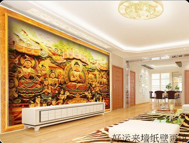 Personnalise 3d Murale Papier Peint Grande Fresque Bouddhiste Zen