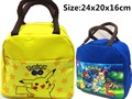 Girl Boys Kids Cartoon Pokemon Pikachu Food Lunch Bag Hnadbag Storage Container Gift 24x20x16cm For Boys Girls