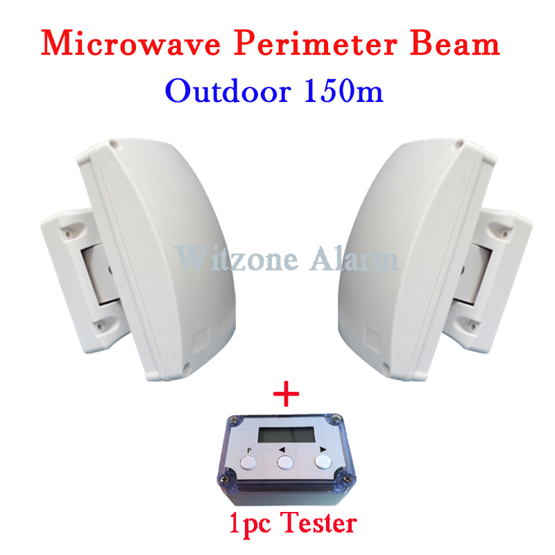 Microwave Beam Perimeter Fence Barrier Detector Window Outdoor 150meters Intrusion Alarm with Debugging Box Free Shipping