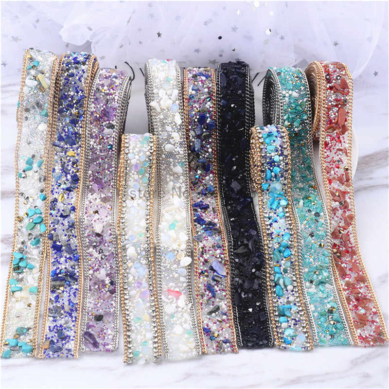 free shipping hot-fix mesh 2cm width 1yards lot Rhinestone chain Cake  Ribbon Trimming 177fb7dfb818
