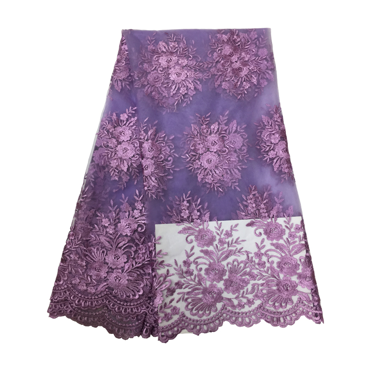 5yards/lot high quality nigerian french lace embroidered tulle lace fabric for wedding dress,2018 Russia African lace fabric lace trim embroidered smock top