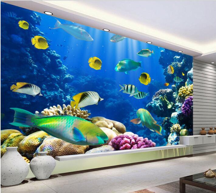 Buy 3d wallpaper custom mural non woven for Custom photo mural wallpaper