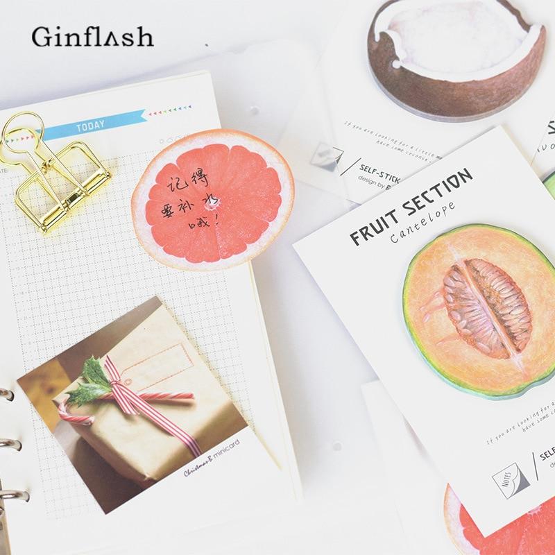 4pcs/lot Cute Kawaii Fruit Notebook Memo Pad Self-Adhesive Sticky Notes Office School Supplies Post It Memo Pad thumbnail