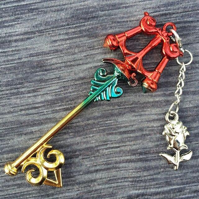 Разноцветные ключи из игры Kingdom Hearts 2