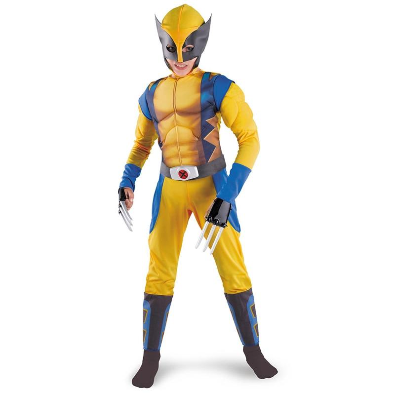 Children Boys X-man Cos Clothes Set Logan Fantasy Clothing аксессуары для косплея cosplay wig cosplay cos cos