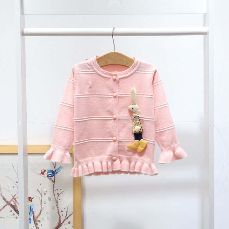 Baby Girl Cardigan Pink Toddler Girl Knit Sweater Cute Bunny Jacket Kids Winter Clothes A014 Crochet Coat Tops Baby Outerwear депантол суппозитории вагинальные n10