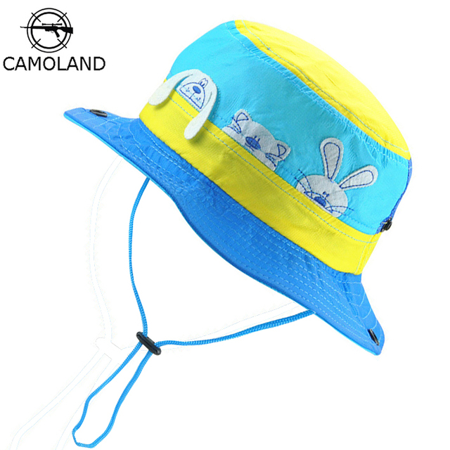 4e3528b3c9e Sun Hat Kids Bucket Hat Quick Dry Summer Fishing Cartoon Cap Boy Girl  Panama Children Hat Animal Beach hat Outdoor Fisherman