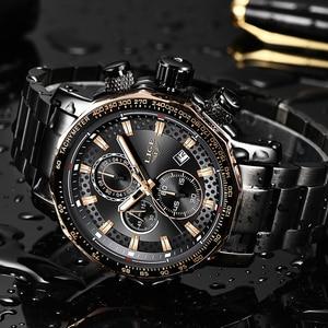 Image 4 - Relogio Masculino LIGE New Sport Chronograph Mens Watches Top Brand Luxury Full Steel Quartz Clock Waterproof Big Dial Watch Men