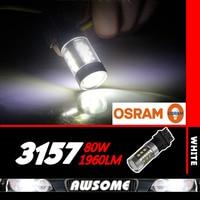 1x 80W OSRAM T25 3156 3157 High Power Xenon Bright White Led Car Turn Singal Brake