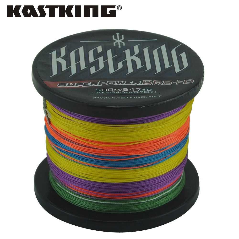 KastKing 8 Strand 500 M современный рыболовный бренд Мути цвет Япония многонитевая PE плетеная леска 65 80 100 120 150LB