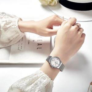 Image 4 - NAVIFORCE جديد إمرأة فاخر ماركة ساعة كوارتز سيدة موضة ساعات الفولاذ مقاوم للماء السيدات ساعة اليد Relogio Feminino