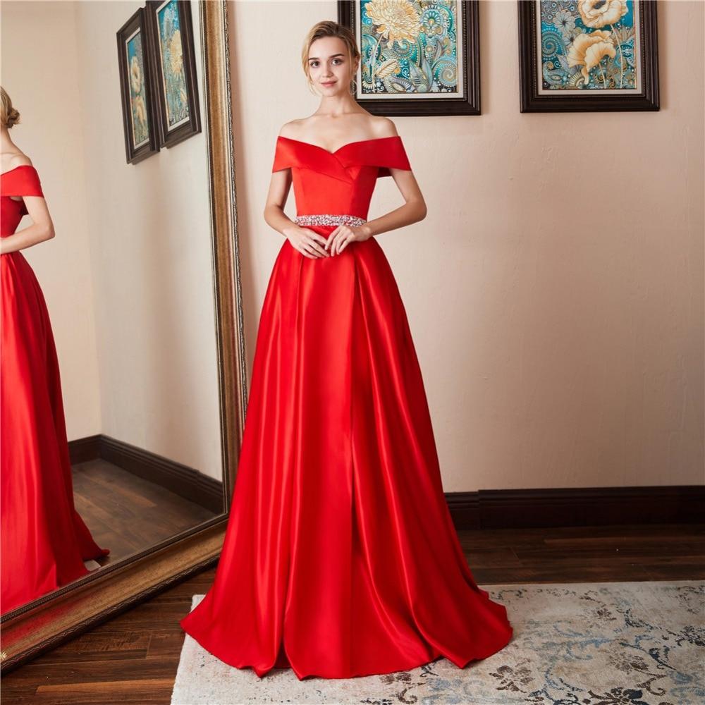 4a866de860a Red Velvet Off The Shoulder Prom Dress - Data Dynamic AG