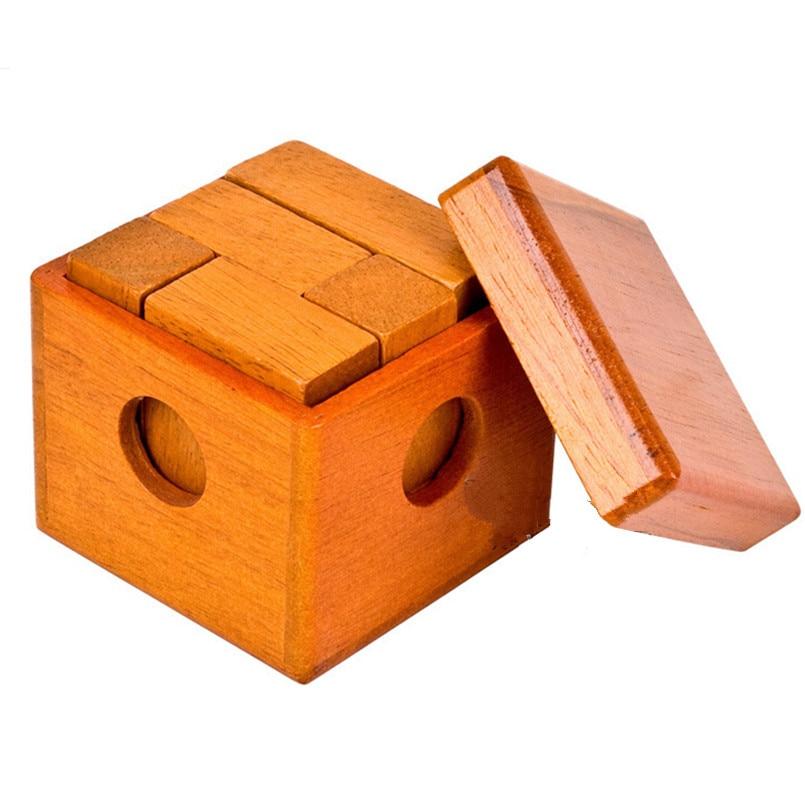 IQ Klasik Minda Kayu Permainan Magic Box Puzzle untuk Dewasa Kanak-kanak Hadiah, Creative IQ Otak Permainan Teaser Mainan Pendidikan untuk Kanak-kanak