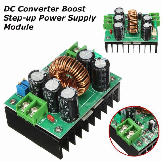 1200W 20A DC-DC Boost Converter Step-up Power Supply Module IN 10-60V OUT 12-80V Free Shipping