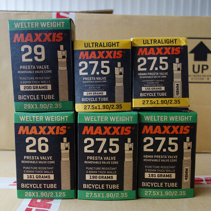 1Pcs MAXXIS 26x1.90-2.125 27.5/29x1.9-2.35 MTB Mountain Bike Tube Presta & Valve PV Inner Tube internal Bicycle Tire diamondback 27 5x2 10 2 35 thorn resistant 32mm threaded presta valve bicycle tube black