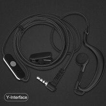 Walkie talkie auricular con micrófono PTT, walkie talkie, para Yaesu Vertex Standard Radio VERTEX STANDARD LINTON