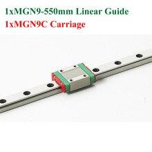 MR9 MGN9 9 мм Длина 550 мм С Мини MGN9C Линейная Направляющая Блок Для 3d-принтер Коссель