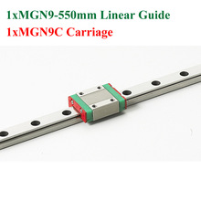 MGN9 MR9 9mm Linear Rail Guide Length 550mm With Mini MGN9C Block For 3D Printer Kossel