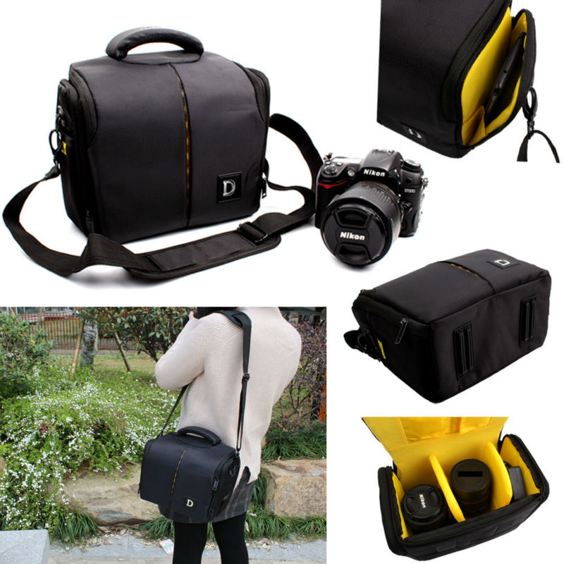 цена на Waterproof Camera Bag for Nikon D3400 D3300 D3200 D5100 D7100 D5200 D5300 D90 D7000 D610 P900 P520 D750 D7200 +Strap+Rain cover