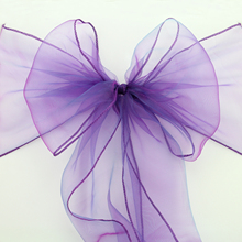 Hot Sale Organza Chair Sashes Bow Cover chair sashes tulle For Weddings Events &Party Banquet Christmas Decoration mint green