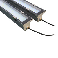 High Transparent Tempering Glass Waterproof Duskproof 50 LED 40W Industrial Lamp 0 10V Dimming Damp area Light