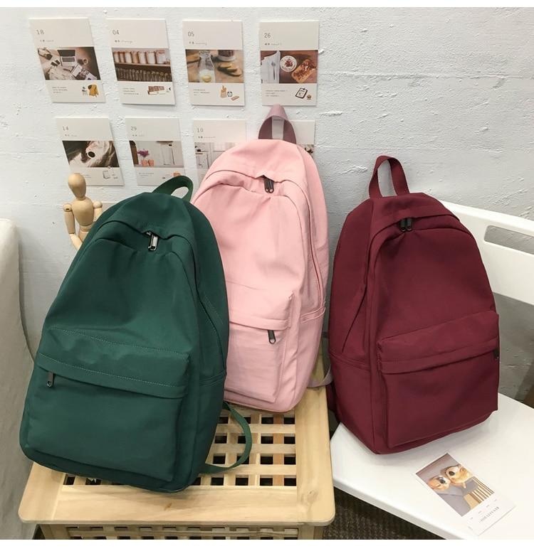 HTB1OtDQXEY1gK0jSZFCq6AwqXXaN 2019 Backpack Women Backpack Solid Color Women Shoulder Bag Fashion School Bag For Teenage Girl Children Backpacks Travel Bag