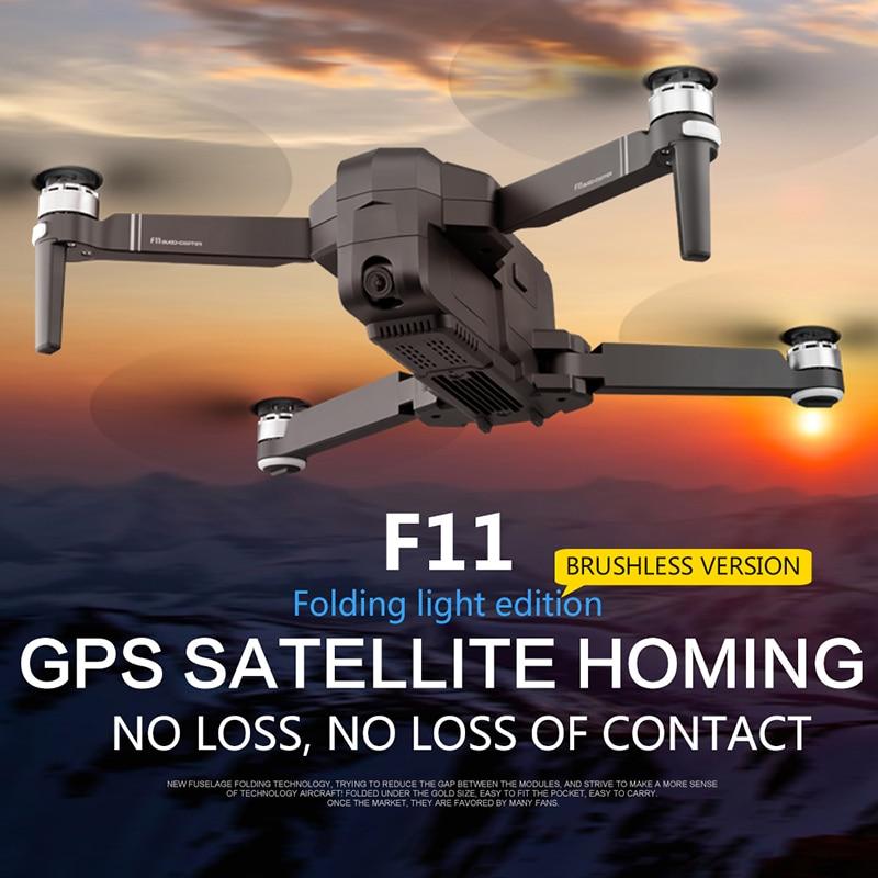 Oyuncaklar ve Hobi Ürünleri'ten RC Helikopterler'de Sjrc f11 Z5 yarış drone profesyonel pro drones hd kamera ile gps rc helikopter fpv selfie gps fırçasız quadcopter oyuncaklar 2K FPV Katlanabilir Drones'da  Grup 1