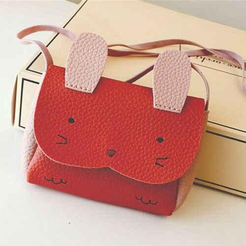 رضع أطفال فتيات بولي Leather جلد حقيبة مدرسية حقيبة كتف رسول حقيبة يد حقيبة كروسبودي