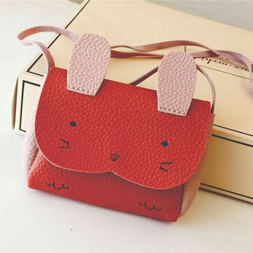 Sıcak satış bebek çocuk kız PU deri okul çantası omuzdan askili çanta postacı çantası Crossbody Satchel çanta