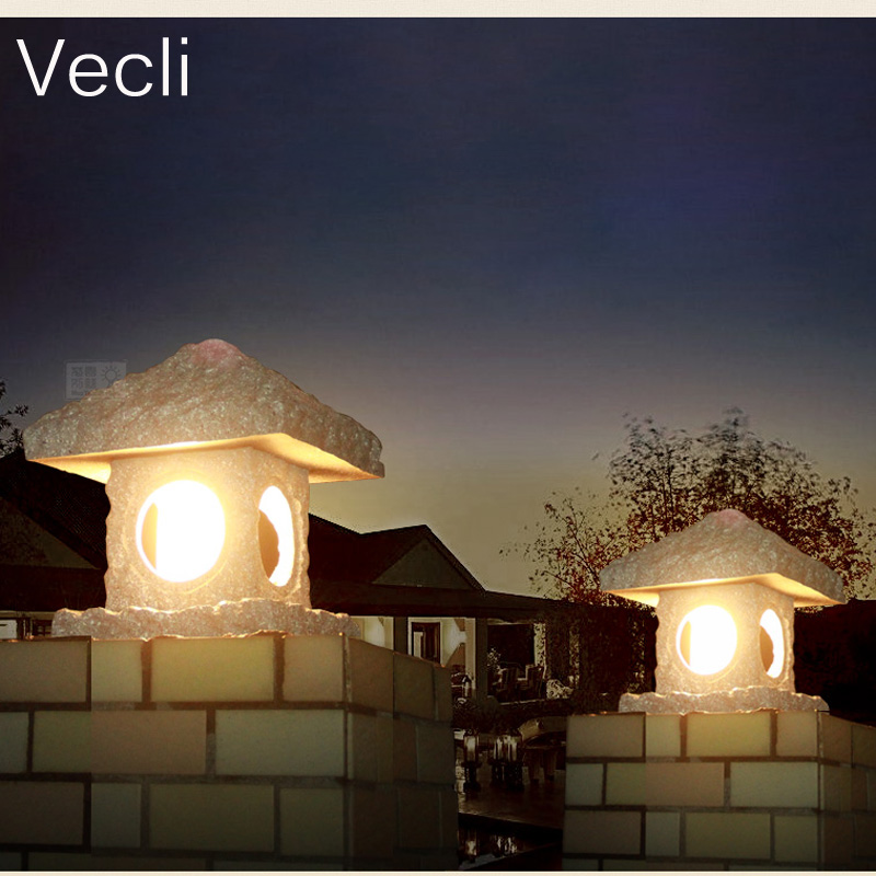 Style chinois magasin imitation extérieure poste luminaires étanche balcon jardin lumières pour porte pilier lampes