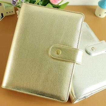 A5 A6 prata ouro recarregáveis dokibook diário notebook agenda planejador filofax loose-leaf notepad fichário