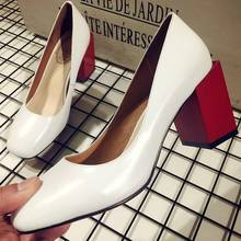 2017 Krazing Pot New fashion brand shoes shallow mixed colors high heels genuine leather women pumps shallow mature high quality