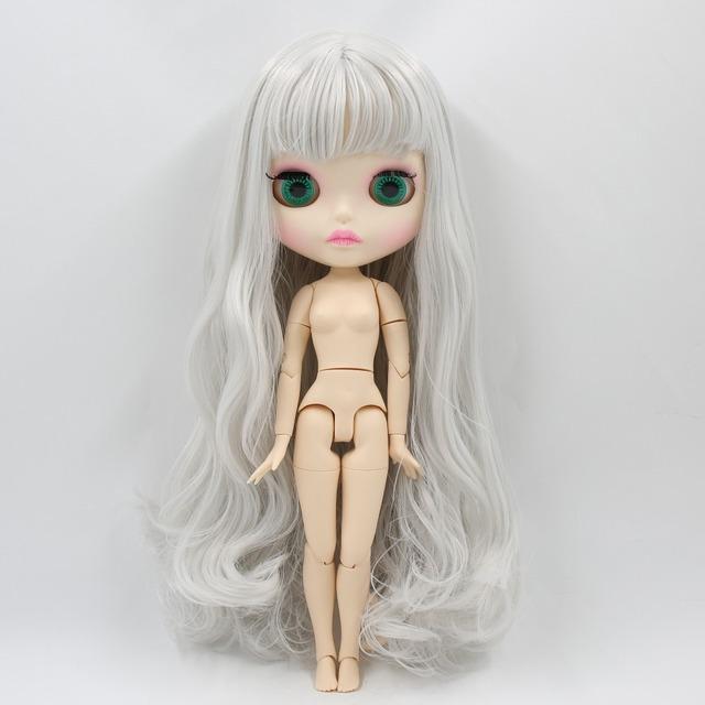 TBL Neo Blythe lutka sive kose kose