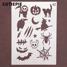 Halloween Demon Pumpkin Stencils For Painting Scrapbooking Stamp Cake Decorating Tool Embossing Paper Cards Album DIY Decoration