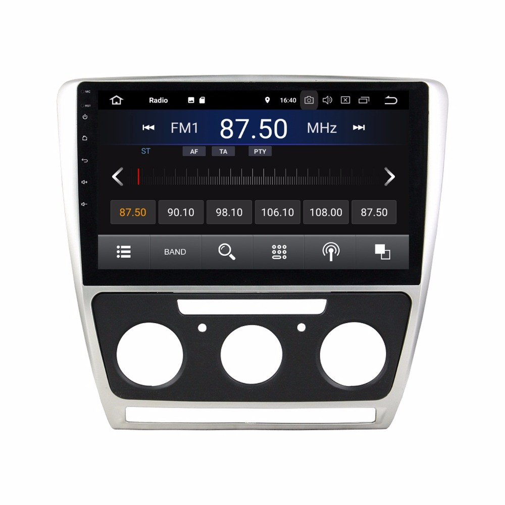 android 8 1 car radio gps multimedia head unit for skoda. Black Bedroom Furniture Sets. Home Design Ideas