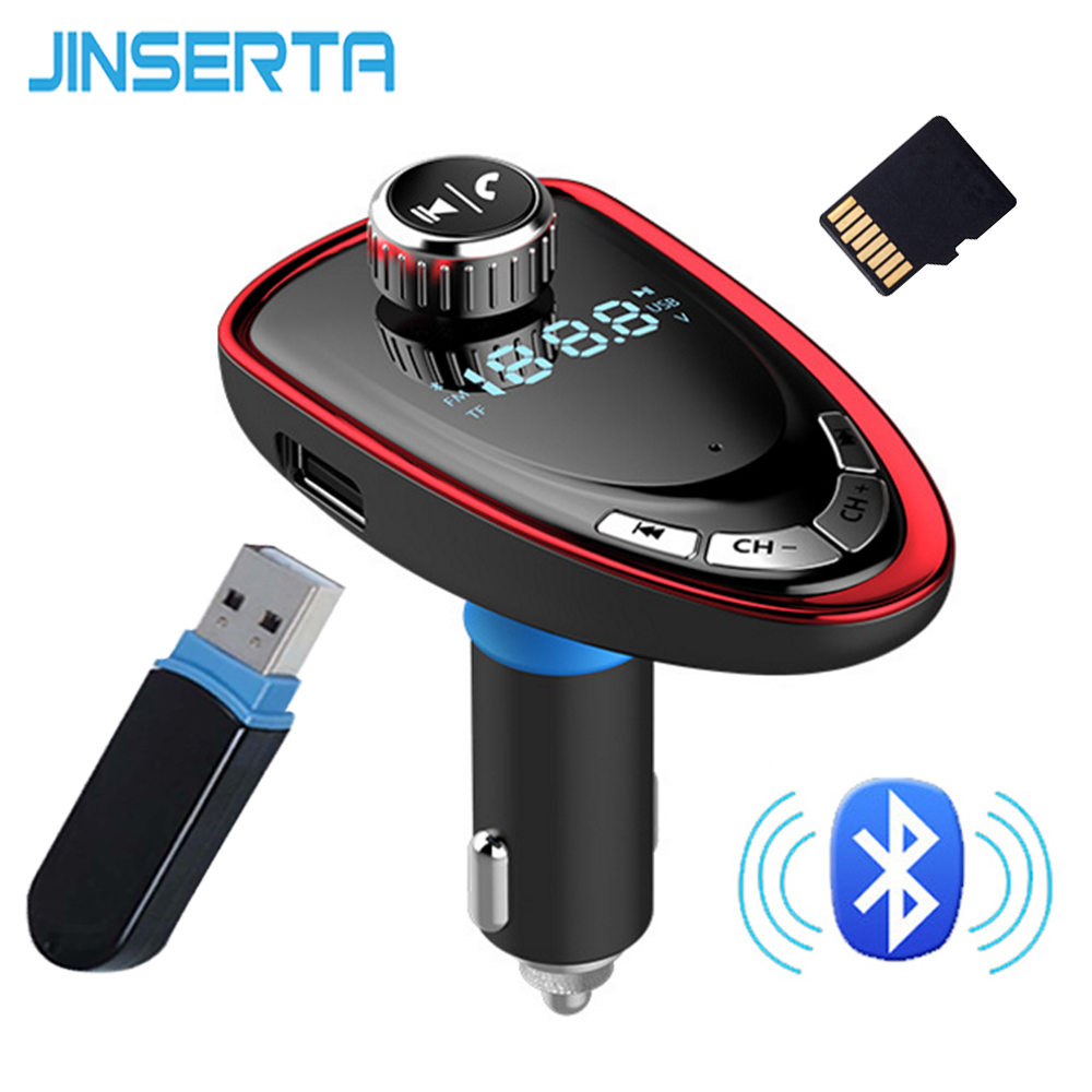 JINSERTA RED Car Kit MP3 Player FM Transmitter Modulator Radio Adapter Usb-ladegerät TF Micro SD u-scheibe Musik-player