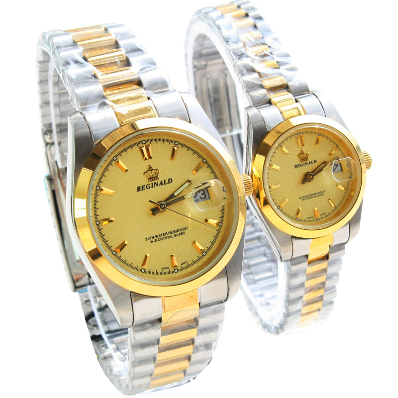HK Luxury Brand Watch Women Lady Gold Stainless Steel Quartz Dress Clocks Male Fashion Casual Couple Business Watch reloj hombre